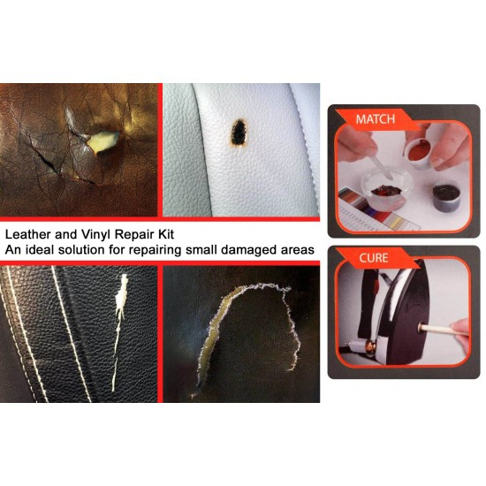 Leather & Vinyl Repair Kit - Do It Yourself - Heat Cure