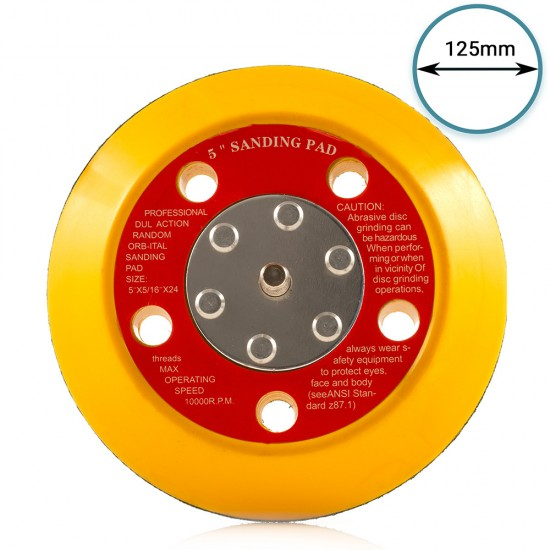 """125mm ( 5"""") Dual Action Backing Pad 5/16""""-24 - high profile"""