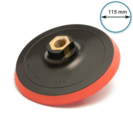 "115mm ( 4.5"") Rotary backing pad M14 - hard"
