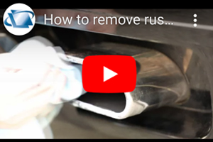 How to remove rust & corrosion damage from exhaust using DIY hand Metal Polish Kit
