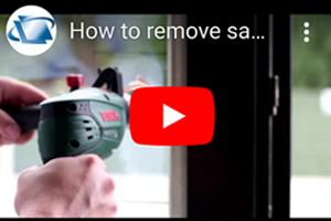 How to remove sandpaper damage from house windows using DIY Scratch Repair Kit