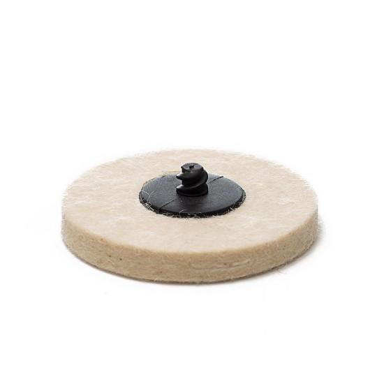 "Quick-Lock Felt Buffing Pad / 3"" (75 mm) - 3 pk"